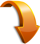 orange-arrow-curved-down